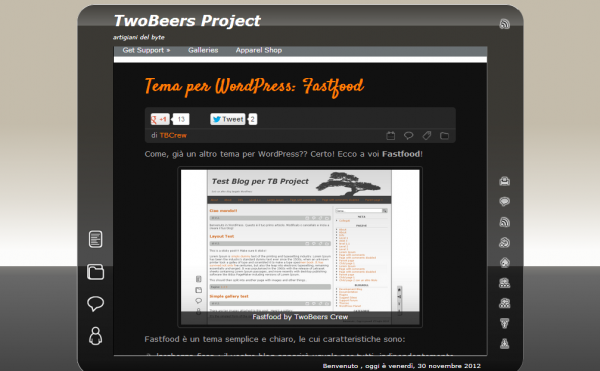Tema per WordPress  Fastfood   TwoBeers Project