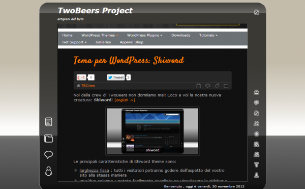 Tema per WordPress Shiword TwoBeers Project