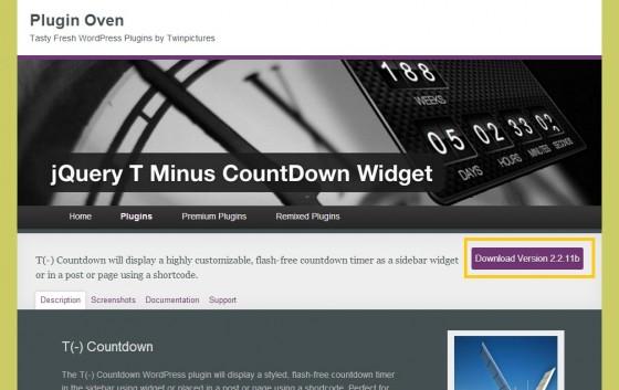 Plugin Oven   T    Countdown