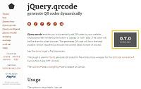 QRコードを生成するjqueryプラグイン3選-その3「jQuery.qrcode 0.7.0」